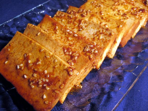 Baked Marinated Tofu. Photo by Dreamer in Ontario