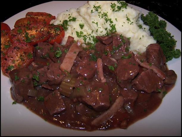 Slow Cooked Beef in Red Wine. Photo by **Jubes**