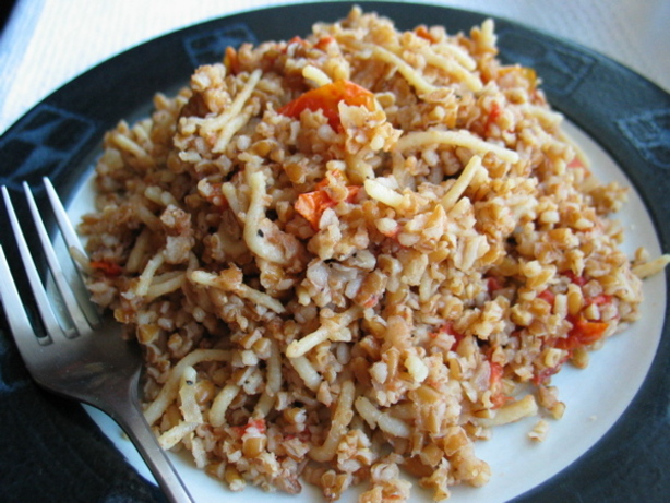 Chef Flower's Cracked Wheat Pilaf  - Kibrisli Bulgur Pilavi. Photo by flower7