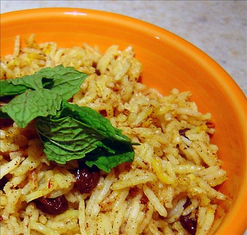 Middle Eastern Raisin Rice. Photo by :(