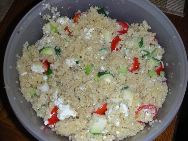 Zesty Greek Couscous Salad. Photo by JackieOhNo!