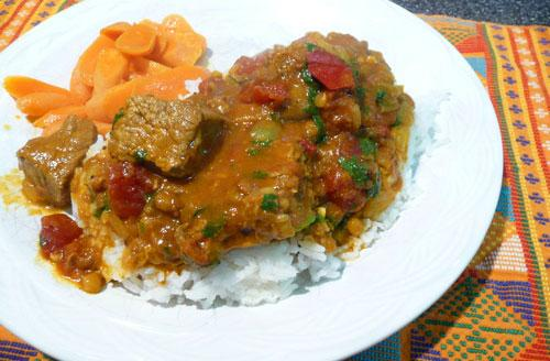 Indian Beef Madras Curry. Photo by Mikekey
