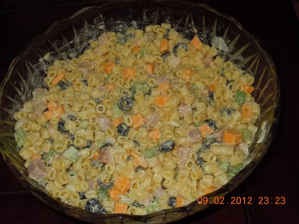 Ham And Macaroni Salad. Photo by SoCalCookerGal