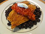 Cornmeal-Crusted Tilapia With Black Beans and Salsa