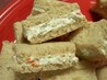Cream Cheese and Olive Party Sandwiches. Recipe by Seasoned Cook