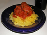 Spaghetti Squash With Meatballs and Cabernet Marinara Sauce. Recipe by Emily Elizabeth