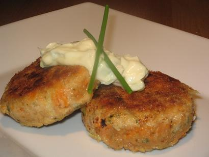 Tuna and Sweet Potato (Kumera) Patties. Photo by The Flying Chef