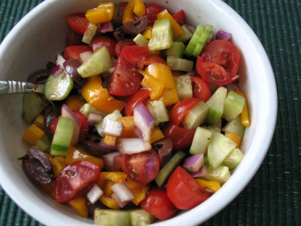 Greek Tomato Salad. Photo by Chicagoland Chef du Jour