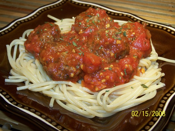 Meatball & Tomato Sauce (Moroccan Tagine). Photo by **Tinkerbell**