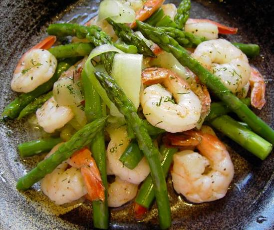 Asparagus, Prawn and Dill Salad. Photo by JustJanS