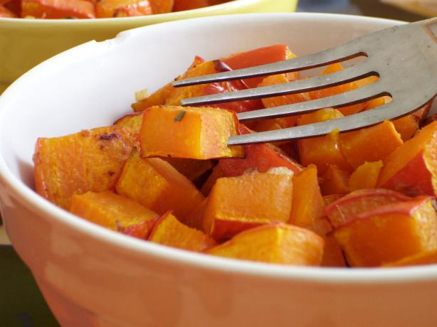 Roasted Butternut Squash With Lime and Rosemary. Photo by Lalaloula