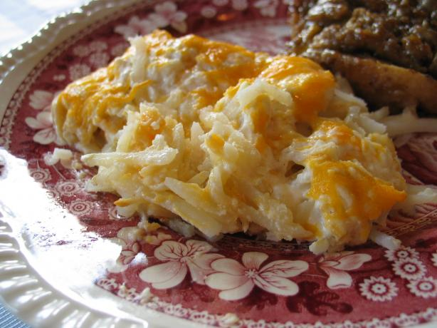 Donna&#39;s Creamy Hash Browns Casserole. Photo by carolinajewel