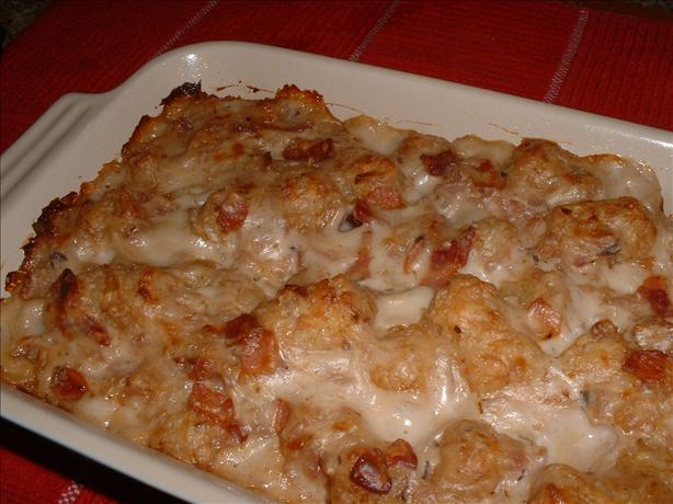 Bacon Tater Tots Bake. Photo by Recipe Reader