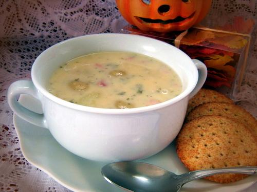 Cheesy Ham and Potato Soup. Photo by Annacia