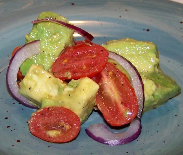 Grape Tomato and Avocado Salad. Photo by Proud Veteran's wife