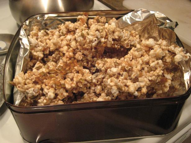 Sweet & Spicy Popcorn Crunch or Balls. Photo by free-free