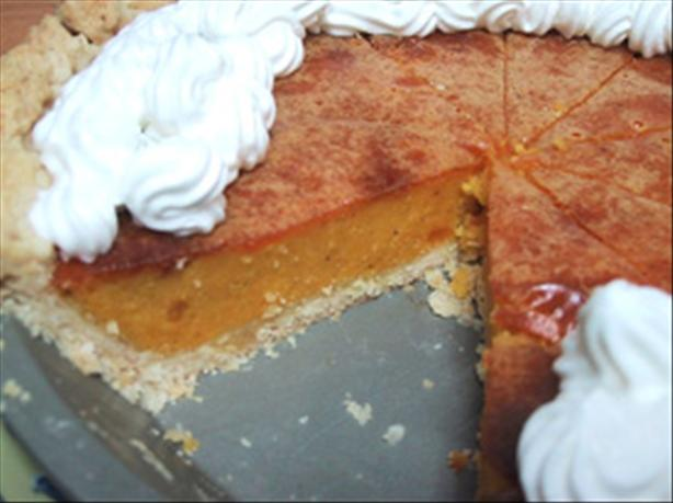 No Sugar, No Fat, No Cholesterol Pumpkin Pie. Photo by HealthyChocolate
