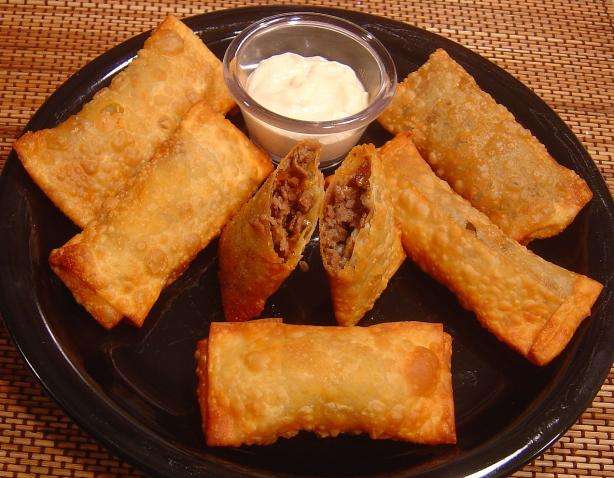 Easy Steak and Cheese Egg Rolls. Photo by Sue Lau