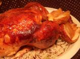 Apple-Glazed Roast Chicken and Rice
