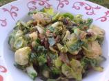 Brussels Sprouts Hash With Caramelized Shallots