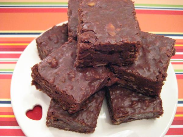 Choc- Almond Fudge Squares. Photo by Darla Emerson