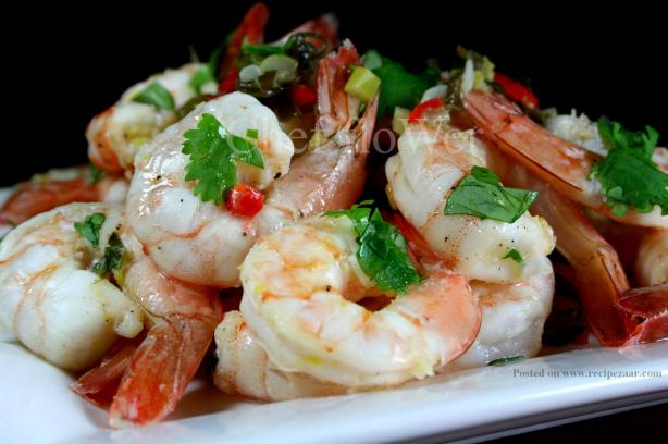 Marinated Prawns (Shrimp) for the BBQ / Grill. Photo by Chef floWer