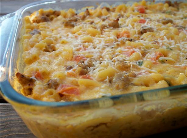 Country Sausage Macaroni & Cheese. Photo by *Parsley*