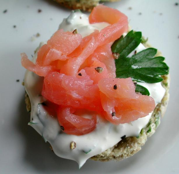 Mini Herbed Scones With Smoked Salmon. Photo by Chef floWer