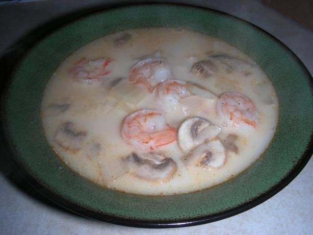 Tom Kha (Coconut Soup) With Shrimp, Easy. Photo by Erin K. Brown
