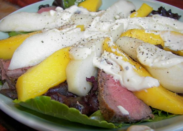 Beef, Mango & Pear Salad. Photo by Baby Kato