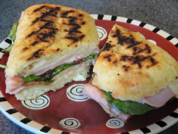 Unreal Ham and Cheese....on the Grillet. Photo by Muffin Goddess