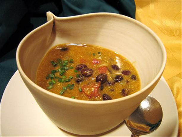 Pumpkin Black Bean Soup. Photo by Annacia