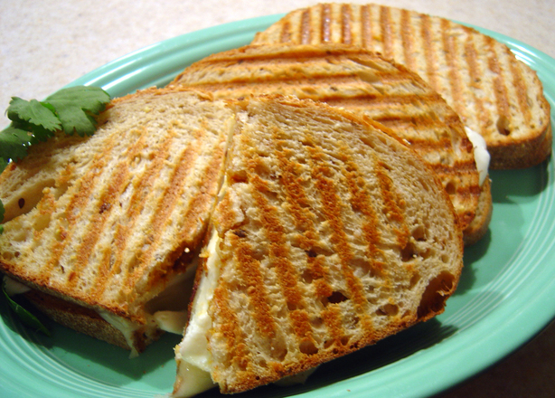 Two-Cheese Panini With Tomato-Olive Pesto. Photo by :(
