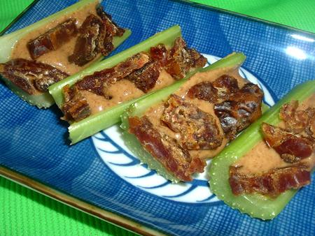 Celery With Almond Butter and Dates. Photo by Bergy