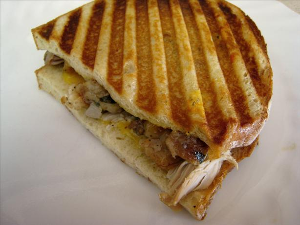 Black Friday Turkey and Stuffing Panini. Photo by Chef Itchy Monkey