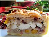 Little Jack Horner's Christmas Chicken, Fruit and Stuffing Pie!