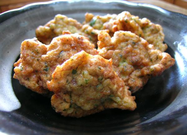 Prawn and Ginger Fritters. Photo by Rinshinomori