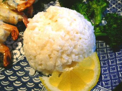 Steamed Rice With Coconut and Lemon. Photo by Mikekey