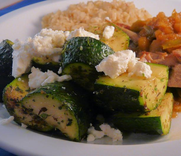 Sauteed Zucchini With Oregano and Feta  (Ww 1 Point). Photo by PaulaG