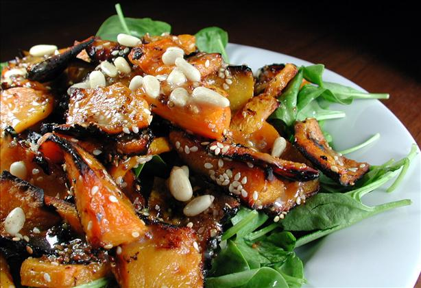 Pumpkin (Squash) & Spinach Salad. Photo by Chef floWer