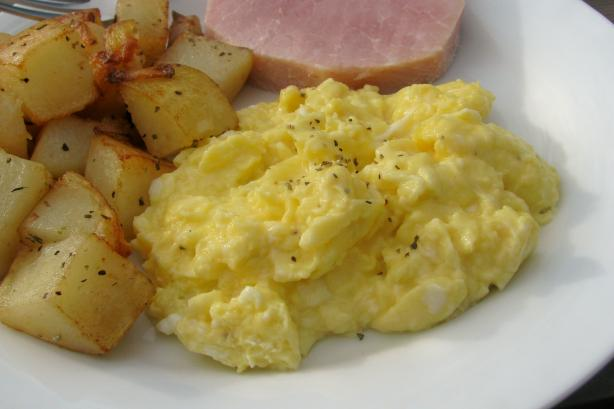 French Scrambled Eggs, Adapted from Julia Child. Photo by lazyme