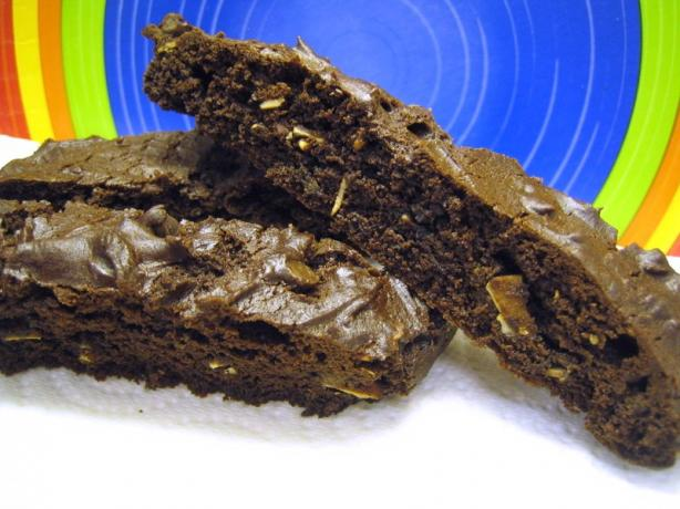 Cake Mix Chocolate Almond Biscotti. Photo by brokenburner