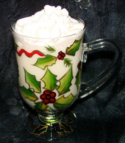 White Hot Chocolate With Candy Canes (Adult or Kid Version). Photo by Boomette