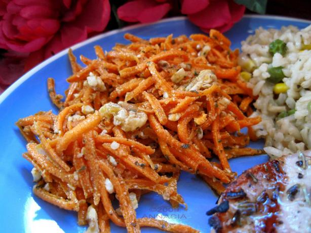 Spiced Carrot Salad (Greek). Photo by Annacia