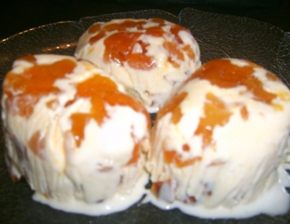 Apricot & Almond Ice Cream Domes. Photo by Tisme