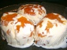 Apricot &amp; Almond Ice Cream Domes. Recipe by I'mPat