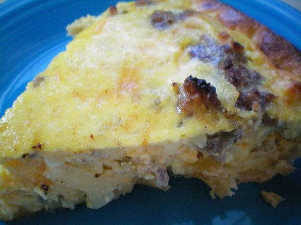 Apple Sausage Quiche. Photo by CoffeeB
