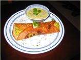 Masala Dosa with Coconut Chutney (South Indian Savory Crepes with filling)