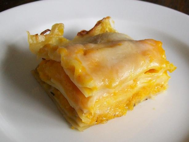 Lighter Butternut Squash Lasagna. Photo by tomsawyer