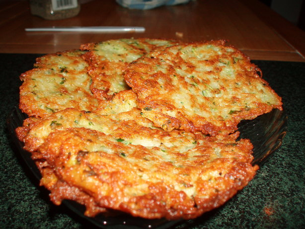 Best Potato Zucchini Latkes. Photo by Ashrei